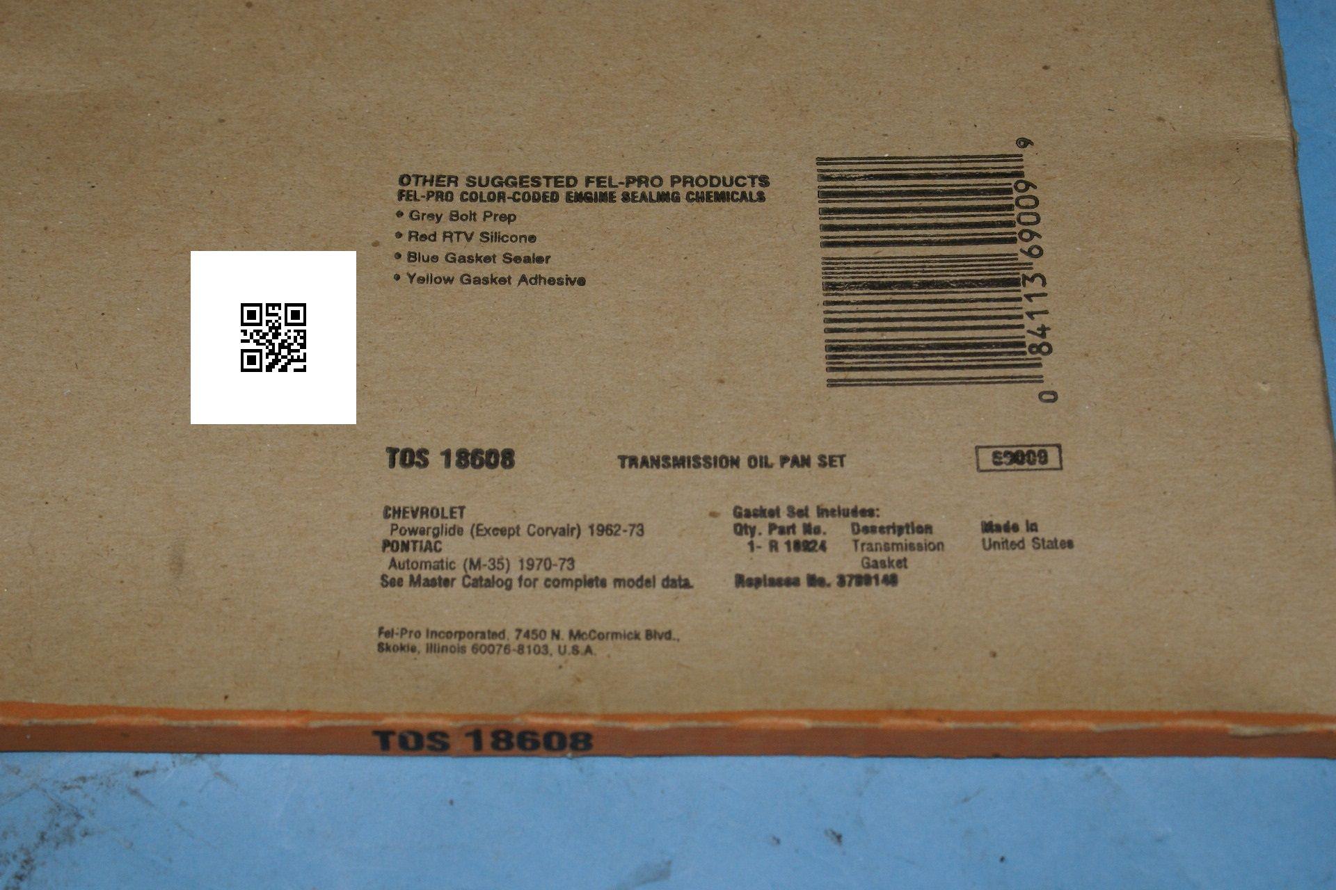 Fel-Pro TOS18608 Oil Pan Set